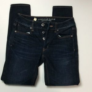American Eagle Tomgirl Button Fly Skinny Jeans 00